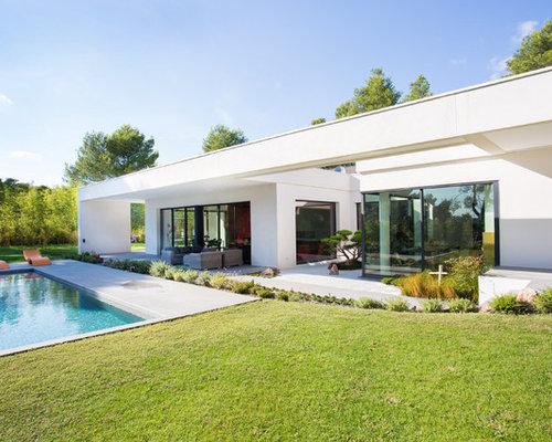 Photos d 39 architecture et id es d co de fa ades de maisons for Modele villa basse moderne