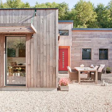 Maison individuelle en bois dans le Morvan