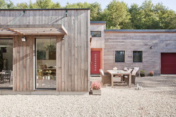 architecture une maison ossature bois pour un couple de retrait s. Black Bedroom Furniture Sets. Home Design Ideas
