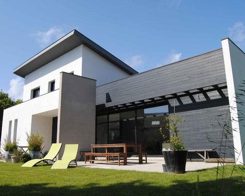 Photos d 39 architecture et id es d co de fa ades de maisons un tage - Relooker facade maison ...