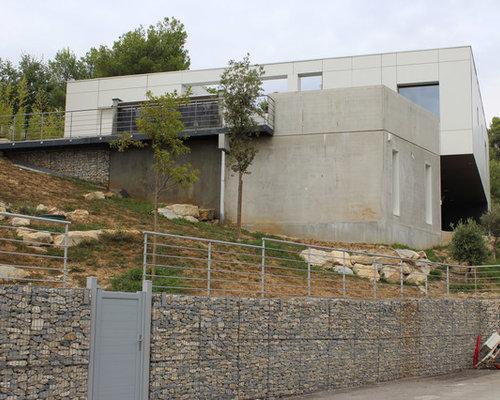 maison lc maison contemporaine en btonboisbardage - Maison Moderne Beton
