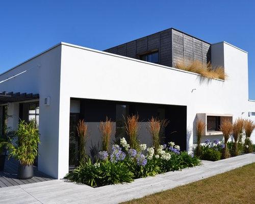 Photos d 39 architecture et id es d co de fa ades de maisons for Deco facade entree maison