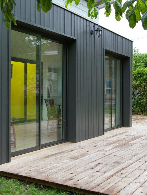Holzfassade Schwarz schwarze häuser in bordeaux ideen design bilder houzz