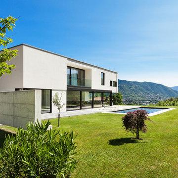 Maisons contemporaines en béton préfabriqué par Byzance Design