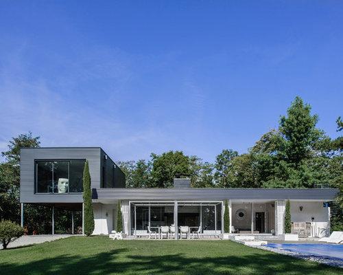 Photos d 39 architecture et id es d co de fa ades de maisons modernes - Maison facade blanche ...