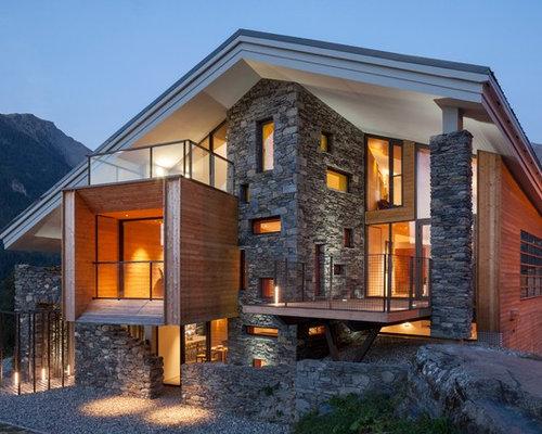 photos d 39 architecture et id es d co de fa ades de maisons de luxe. Black Bedroom Furniture Sets. Home Design Ideas