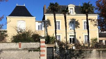 Nettoyage façade maison des bords de Loire