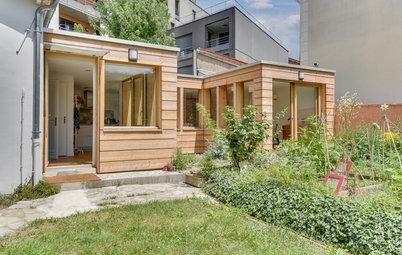 Avant/Après : Une extension écologique tout en bois