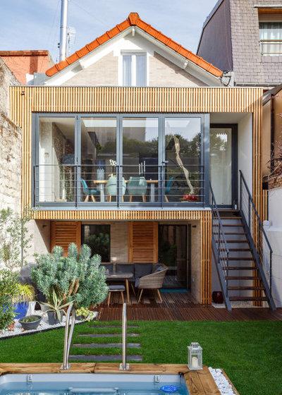 Contemporain Façade by Emilie Melin architecte DPLG