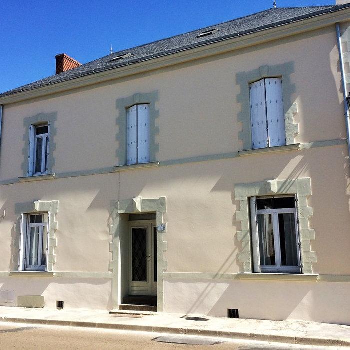 Restauration de façade de maison de maître en enduit à la chaux