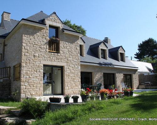 Maison habillage des fa ades en pierre naturelle granit - Facade de maison provencale ...