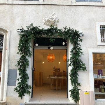 Végétalisation de façade pour Noël