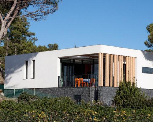 Photos d 39 architecture et id es d co de fa ades de maisons for Facade maison bois contemporaine