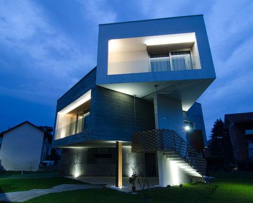 Foto e idee per facciate facciata di una casa a piani for 400 piani di casa di 500 m