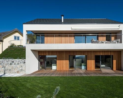 Foto e idee per facciate di case facciata di una casa for Piani di casa spiaggia stile ghiaia