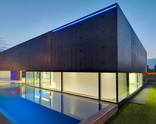 Foto e idee per facciate di case facciata di una casa for Piani di casa artigiano di un livello