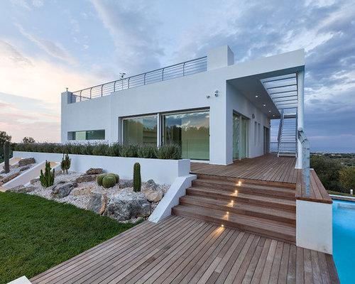 Foto e idee per facciate di case facciata di una casa for Progetti di villette in campagna
