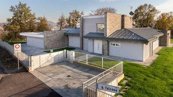 Bergamo, italian design. casa in Bioedilizia classa A, Legno