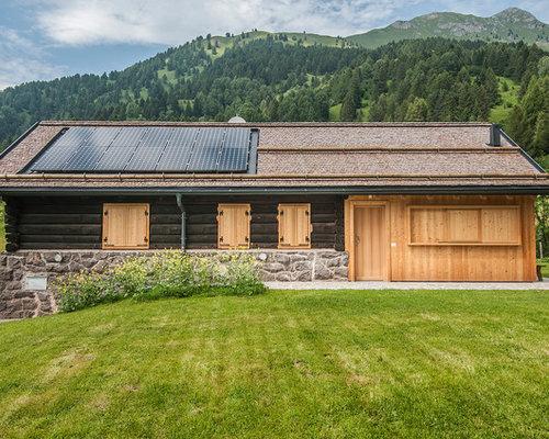 Foto e idee per facciate di case facciata di una casa in for Idee piano piano per la costruzione di una casa