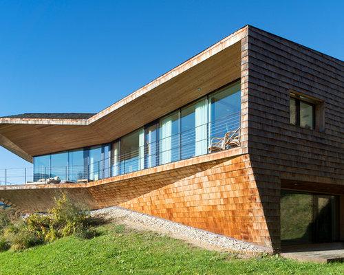 Rivestimento In Legno Per Facciate : Foto e idee per facciate di case facciata di una casa con tetto
