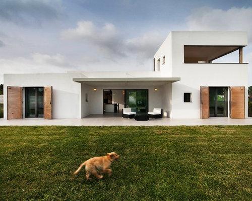 Foto e idee per facciate di case facciata di una casa for Case moderne ad un piano
