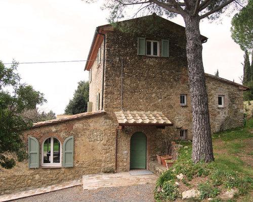 Good excellent idee per la facciata di una casa beige in for Piani di casa ranch online