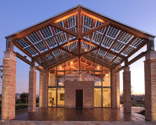Foto e idee per facciate di case facciata di una casa for Piani di costruzione della casa di campagna