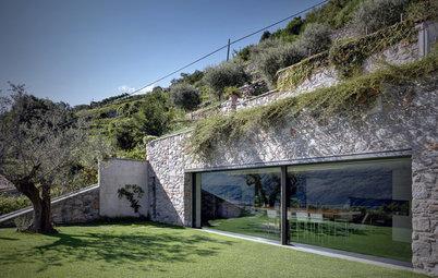 Le Case di Houzz: un'Abitazione Valtellinese Incastonata nella Roccia