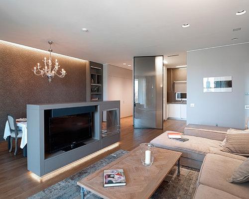 Soggiorno moderno foto idee arredamento for Pareti grigie soggiorno