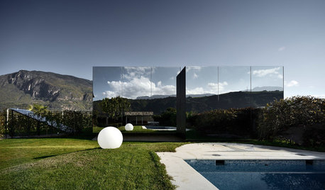 Unbelievable Italian Home Shows a Mirror to the Mountains