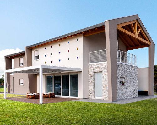 Foto e idee per facciate facciata di una casa contemporanea for Piani casa ultra contemporanei