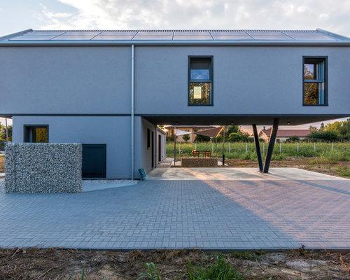 Foto e idee per facciate di case facciata di una casa for Piani casa miami