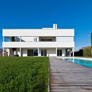 Villa moderna foto e idee houzz for Casa moderna bianca