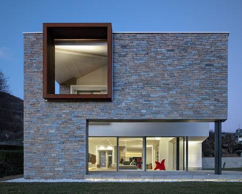 Foto e idee per facciate di case facciata di una casa moderna - Rivestimenti esterni case moderne ...