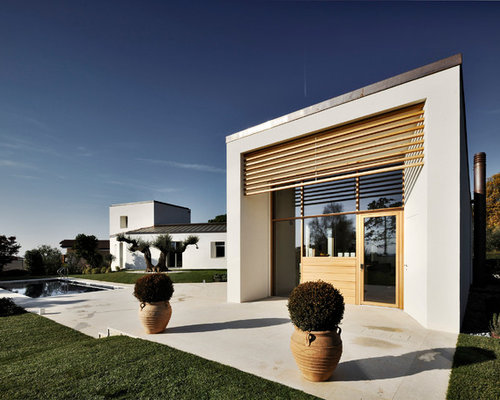 Foto e idee per facciate di case facciata di una casa for Piani di casa da sogno