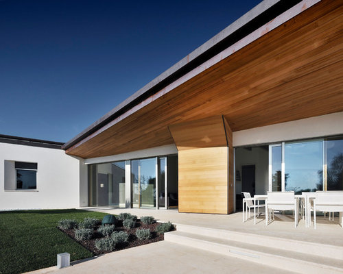 Idee e foto di facciate moderne for Facciate esterne case moderne