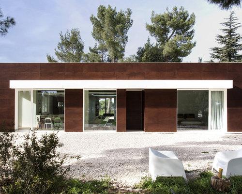 Foto e idee per facciate di case facciata di una casa for Piani e progetti di case contemporanee