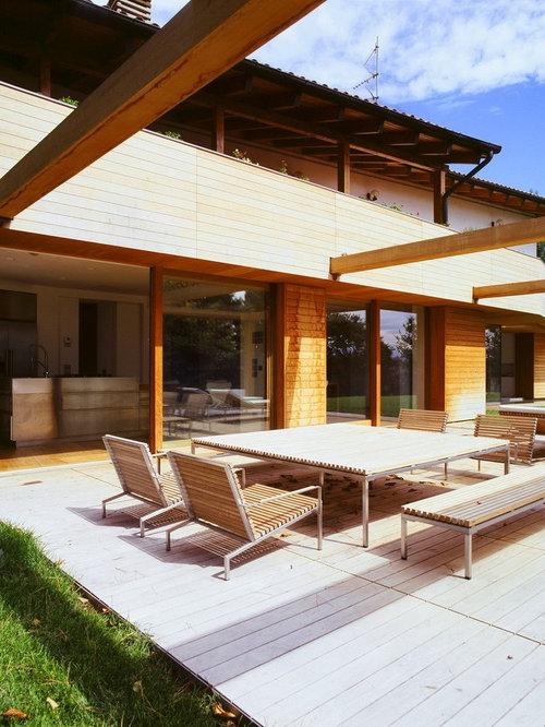 Foto e idee per facciate di case facciata di una casa for Piani di fattoria contemporanea