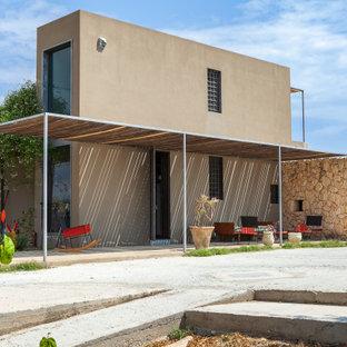 Esempio della facciata di una casa mediterranea