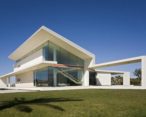 Foto e idee per facciate di case facciata di una casa for Una storia piani personalizzati per la casa