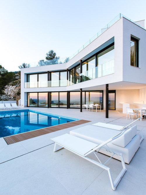 Fotos de ventanas modernas ideas y fotos houzz for Casa moderna blanca con piscina