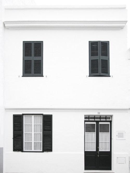 mediterrane h user und fassaden mit mix fassade ideen f r. Black Bedroom Furniture Sets. Home Design Ideas