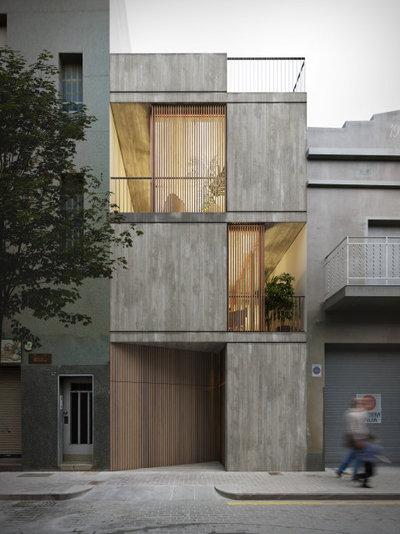 インダストリアル 家の外観 by Albert Brito Arquitectura