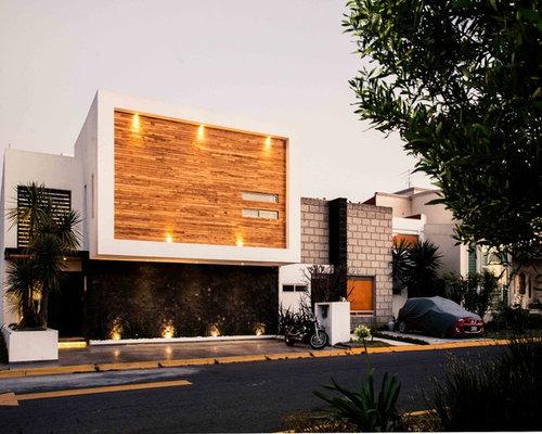 Ideas para fachadas dise os de fachadas con for Tejados madera blanca