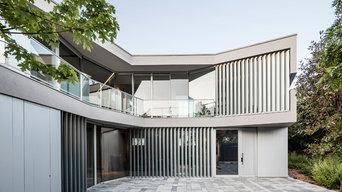 Casa con un espacio para la exposición de arte contemporáneo