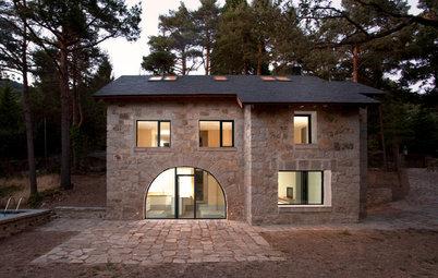 Antes y después: Reformar una oscura casa de piedra... con bambú