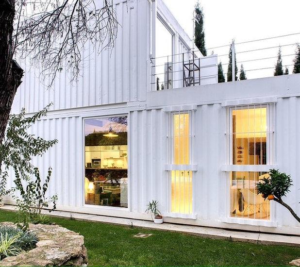 Building Container Homes Cost: Architecture : Une Maison Transportable Construite Avec