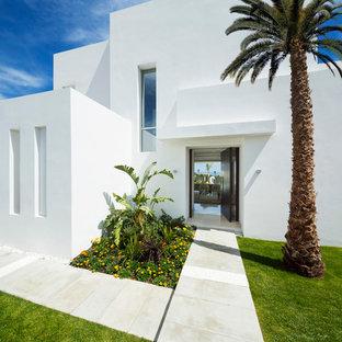 Ideas para fachadas dise os de fachadas modernas for Fachadas de casas con ventanas blancas