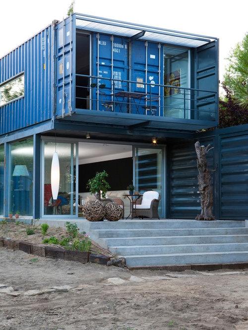 blaue industrial h user und fassaden ideen f r die haus. Black Bedroom Furniture Sets. Home Design Ideas
