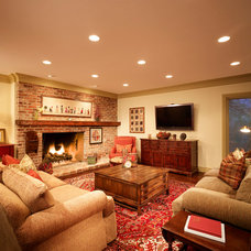 Farmhouse Family Room by Magleby Remodel